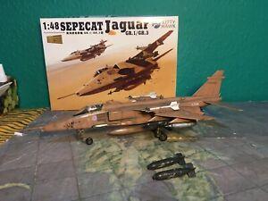 1/48 Sepecat  Jaguar British Desert Storm Aircraft Built Model
