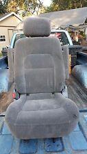 2003 KIA SEDONA LEFT DRIVER SIDE 2ND MIDDLE ROW SEAT GREY CLOTH 2003-2004