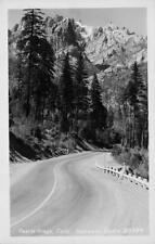 RPPC CASTLE CRAGS Castella, CA Highway Scene ca 1940s Eastman Photo Postcard