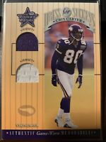 2001 Leaf Rookies And Stars Cris Carter Dual Jersey Dress For Success Vikings