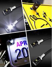 2x White LED Motorcycle License Plate Screw Bolt Light Lamp Bulb 12V For Suzuki