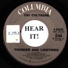 Chi Coltrane 70s ROCK 45 (Columbia 45640) Thunder And Lightning /Time To   VG++