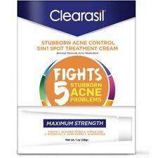 Clearasil Stubborn Acne Control, 5in1, Spot Treatment Cream, 1 oz, EXP 05/2020