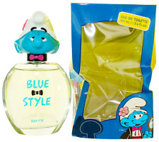 Blue Style Vanity by The Smurfs For Kids EDT Cologne Spray 3.4oz Damaged box New