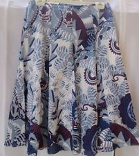 Elie Tahari Skirt 4 Embroidered Floral Cotton Panel Seamed Full Lined