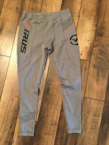 Virus Men's Full compression leggings. size Large.gray and black.