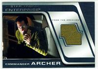 Star Trek Enterprise season 4 Costume Relic Card C7 Scott Bakula Comander Archer