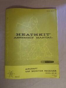 VINTAGE HEATHKIT AIRCRAFT VHF MONITOR RECEIVER ASSEMBLY MANUAL GR-98