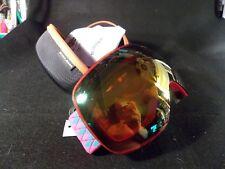 Snowledge Ski Goggles Pink/Orange w/Hard Case for Men/Women/Children Brand New!