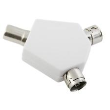 2 Way TV Splitter Y Convertisseur Mâle à Femelle Deux Way Coaxial Antenne Adaptateur