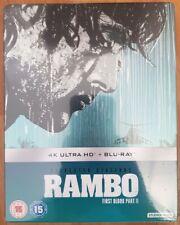 Rambo First Blood Part 2, BLU RAY STEELBOOK 4K ULTRA HD New&Sealed