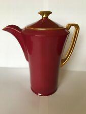 Crown Devon  'Fielding'  Claret Ground with Gilt Interior Coffee Pot & Lid