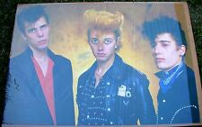 STRAY CATS Brian Setzer Vintage Original Personality Group 1981 Poster UK Mint-