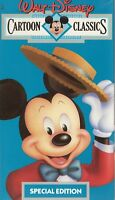 CARTOON CLASSICS - WALT DISNEY - VHS - NEW - PAL - Original Oz sell-thru release