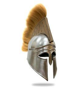 FULL SIZE DISPLAY  Greek Corinthian Armor Helmet w/Plume Medieval Warrior Armor