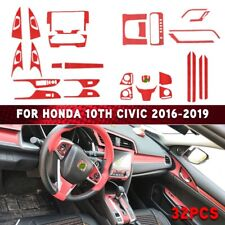 32Pcs Red Interior Accessories Fit For Honda 10th Civic 2016-2019