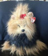 Ty Yappy Yorkshire Terrier  Beanie Buddy Plush Yorkie Dog 1997 Original Tags