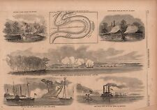 1862 Harpers Weekly Print - Vicksburg Mississippi is shelled by Com. Davis
