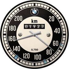 BMW Tachometer Werkstatt Nostalgie Wanduhr Glas31 cm Wall Clock Neu