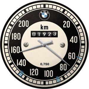BMW Speedometer Workshop Nostalgia Wall Clock Glas31 CM New