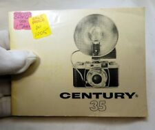 Graflex Century 35 camera Instruction Guide Manual English