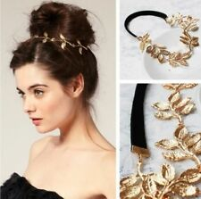 Gold Metal Chain Leaf Leaves Flower Head band Tiara Wedding Bridal Jewelry Hair