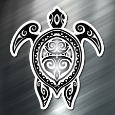 (1) ONE Tribal Sea Turtle Decal Sticker Car Boat Fishing Dive Beach Ocean Hawaii