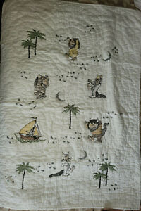 Pottery Barn Kids Where The Wild Things Are Toddler/Crib Quilt