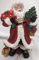 "8"" Polyresin Santa Clause Figurine Merry Christmas Holidays Collectible"