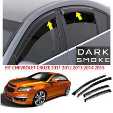 Smoke Window Visor Rain Guard For 2011 2012 2013 2014 2015 Chevy Cruze Tapeon Fits 2012 Chevrolet Cruze Lt