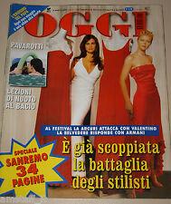 OGGI=2002/10=MANUELA ARCURI=VITTORIA BELVEDERE=FESTIVAL SANREMO=SERGIO SALADINO=