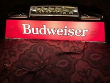 Vintage Budweiser Red Hanging Pool Table Light with Clydesdale Horses-Working!