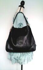 COACH Medium Size Black Pebbled Leather Madison Phoebe Hobo Shoulder Bag