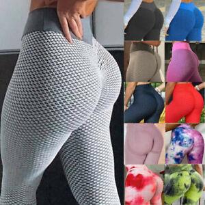 Women Anti-Cellulite Yoga Pants Push Up Ruched Tummy Control Tik Tok Leggings US