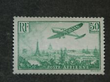 Y&T 14 - XX - 50 Frs Vert-jaune / Groen-geel - survol de Paris (avec certificat
