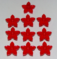 Lego Lot of 10 New Red Duplo Plant Flower with 1 Top Stud Pieces