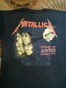 Vintage 1988 Metallica Justice Tee shirt Medium t concert M