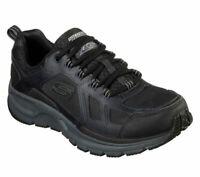 Men Water Repellent Black Charcoal Skechers Shoe Memory Foam Sport Leather 51703