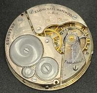 Elgin Grade 291 Pocket Watch Movement 16s Openface 7j Model 7 Parts Repair F5498