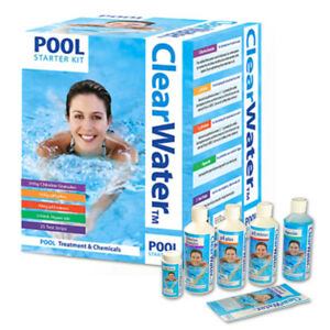 POOL STARTER KIT WATER TREATMENT CLEANING TUB CHLORINE GRANULES CLEARWATER