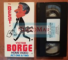 ☀️ The Best of Victor Borge Home Video Act One and Two VHS MINT