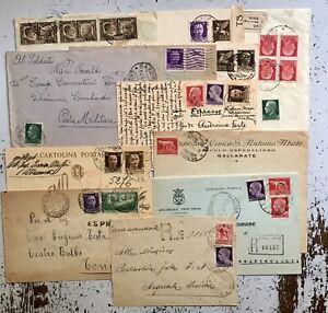 Regno 1900 Lotto Storia Postale 12 Lettere Complete