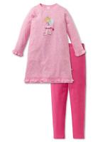 SCHIESSER Mädchen Schlafanzug Pyjama lang EINHORN 104 116 128 140 Nachtwäsche