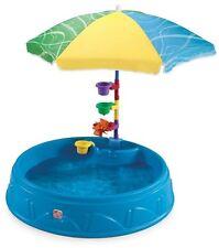 Step 2 Play Shade Above-Ground Hard Side Swimming Pool w Umbrella Kids Water Fun