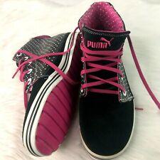 Puma Hi Top Trainers Ladies UK 6 Tatau Nu Mid Leather Suede Retro Shoes