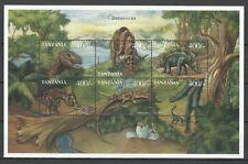 Tanzanie Tanzania Reptiles Dinosaures Tyrex Prehistoric Predator **1999 Bloc 15€
