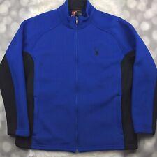 Spyder Core Sweater Mens 3XL XXXL Blue Black Foremost Heavy Weight Full Zip