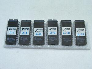 Lot de 6 puce PICS BORNE JEU ARCADE reprogrammable MITSUBISHI NMC27C256Q Vintage