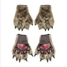 Halloween Werewolf Wolf Gloves Hands Fancy Dress Costume Accessory