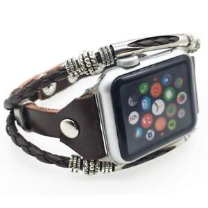 US For iWatch Series 5 43 2 1 38/40/42/44mm Leather Wrist Strap Apple Watch Band